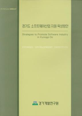 경기도 소프트웨어산업 지원 육성방안