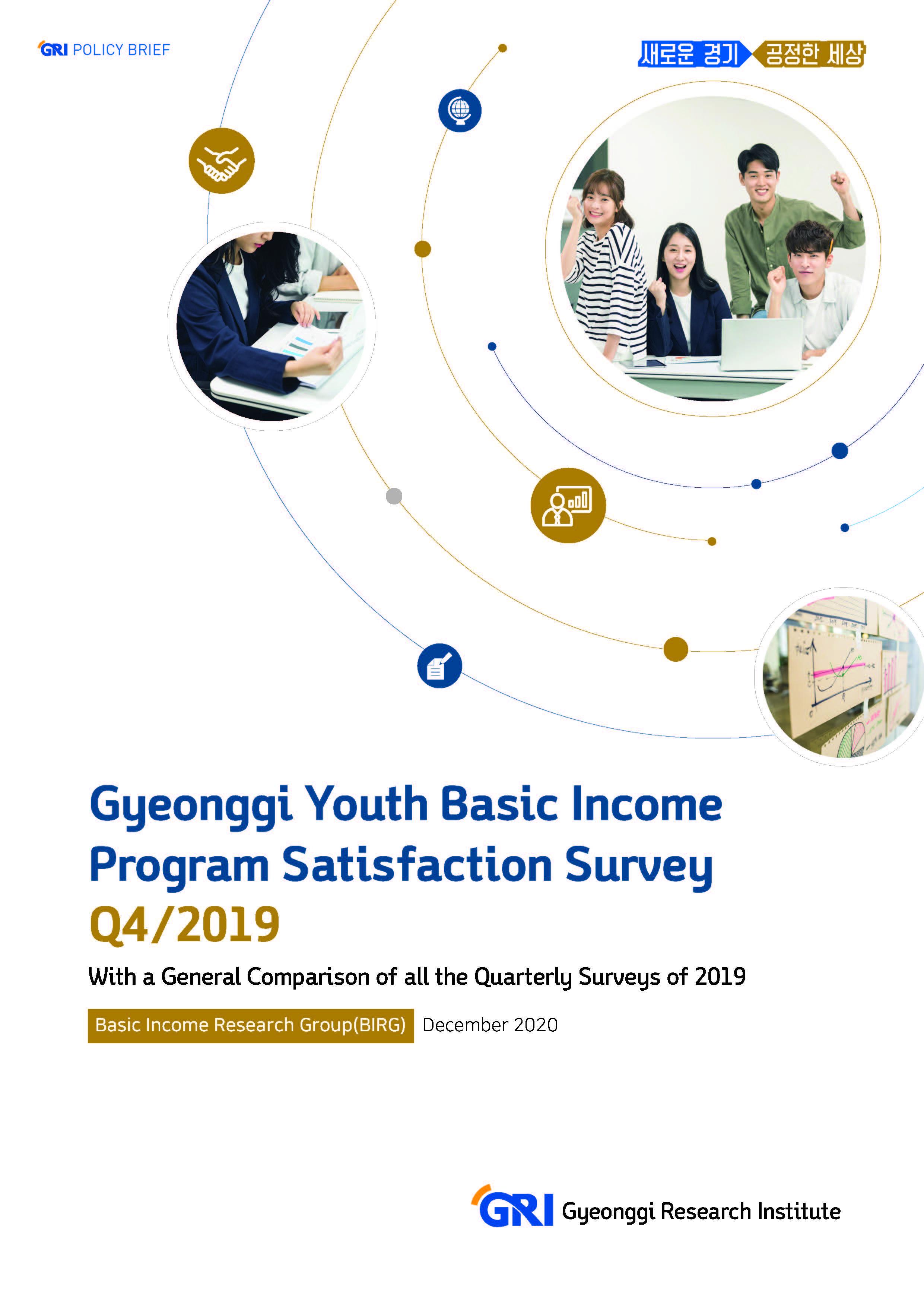 Gyeonggi Youth Basic Income Program Satisfaction Survey Q4/2019