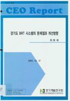 경기도 BRT시스템의 문제점과 개선방향