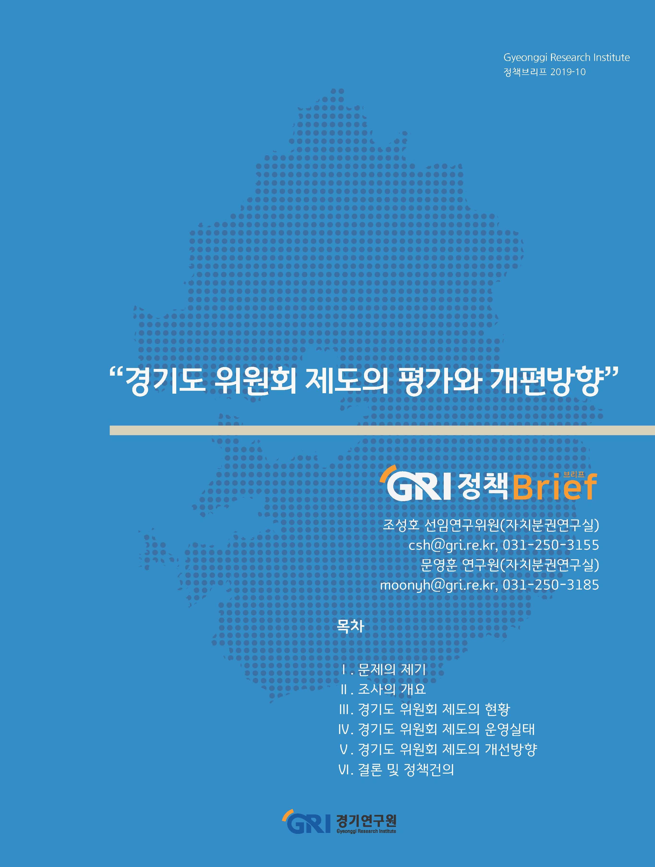 경기도 위원회 제도의 평가와 개편방안
