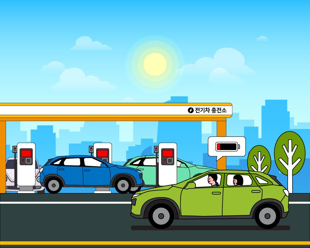 친환경 시대 대세는 전기차, 충전은 어디서?